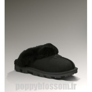Abordable Ugg-349 Coquette Noir chaussons