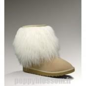 Bottes mignon de sable Ugg en peau de mouton court-298 de manchette