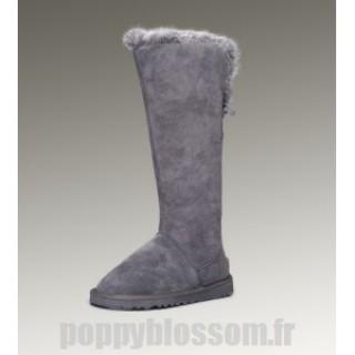 Boutique Ugg-231 bottes hautes en fourrure de renard gris