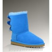 Casual Ugg Bailey Bow-367 Bleu Bottes