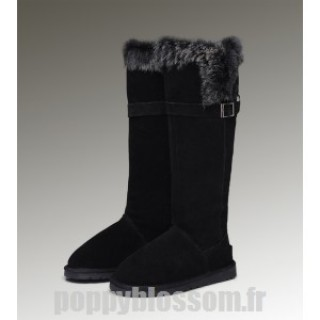 Mode Ugg-234 Grand Fur Noir Fox Bottes