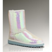 Ugg-161 Sparkles Bottes blanches