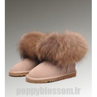 Ugg-193 Mini Fox Fur Boots de sable