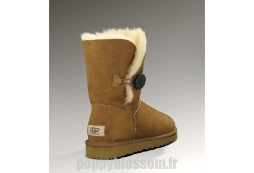 Abordable Bouton Ugg Bailey-101 Chatain Bottes