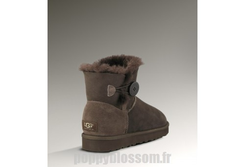 Fermer fortes Ugg-102 Mini Bailey Button Bottes chocolat