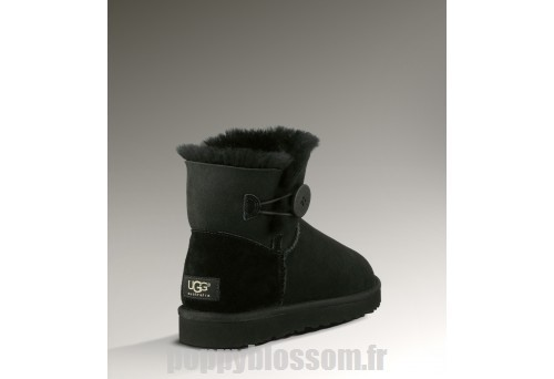 Raffinement Ugg-105 Mini Bailey Button Bottes noires