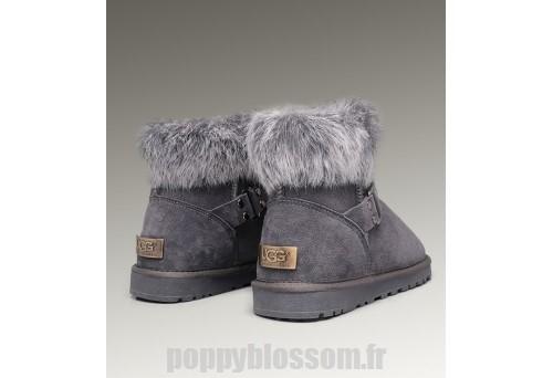 renard gris fourrure ugg bottes