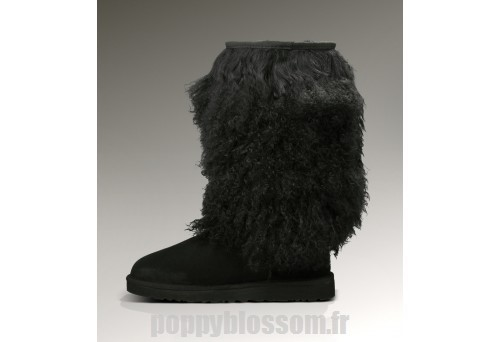 Exclusif Ugg-297 Grand mouton Cuff Noir Bottes?