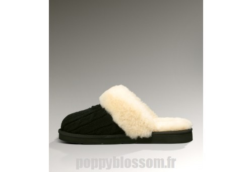 Outlet Ugg-326 Knit Cozy Noir chaussons?