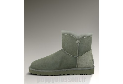 Happy family Ugg-099 Mini Bailey Button Gris Bottes