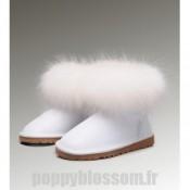 Authentique Ugg-233 Mini fourrure de renard blanc Bottes