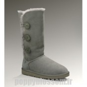 Cozy Bailey Bouton Ugg-096 Triplet Gris Bottes