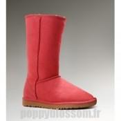 Les Ugg-155 hautes bottes rouges classiques
