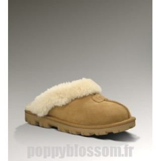 Romantique Ugg Coquette-307 Chatain chaussons
