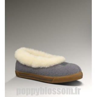 Sommet des charts Ugg-337 Laine Rylan Gris Chaussons
