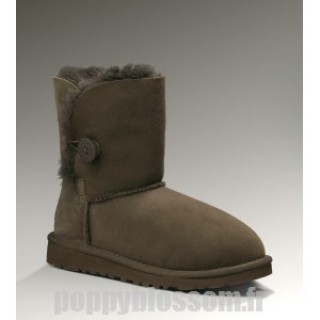 Superbe Ugg Bottes-015 Bailey Button chocolat