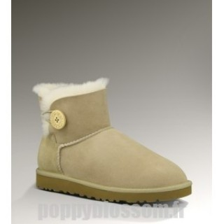 Ugg-112 Mini Bailey Button Bottes Sable
