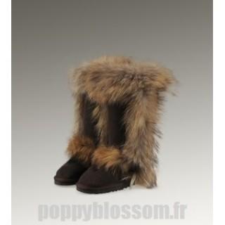Ugg-216 Grand Fur Noir Fox Bottes