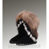 Ugg-237 Grand Fur Noir Fox Bottes
