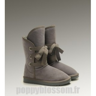 Ugg-259 court Roxy Gris Bottes