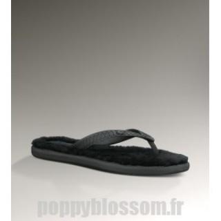 Ugg-288 Fluffie Noir Sandales