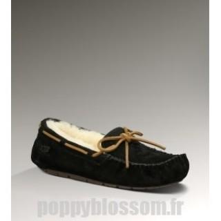 Ugg-322 Dakota noir chaussons