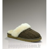 Ugg-327 tricot chaussons de chocolat Cozy