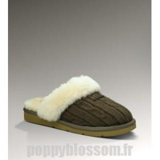 Ugg-327 tricot chaussons de chocolat Cozy